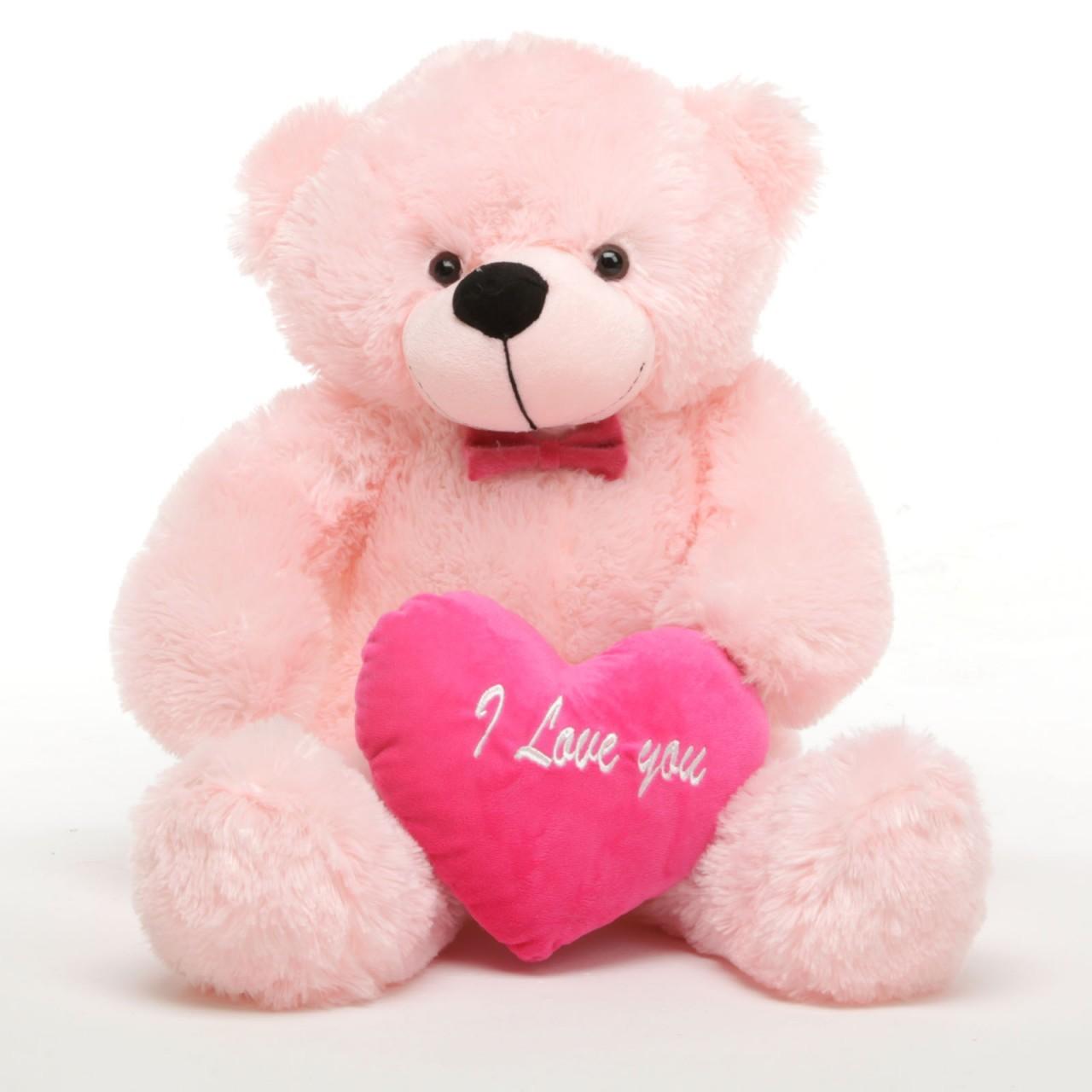 Pink cute teddy bear wallpapers - photo#20