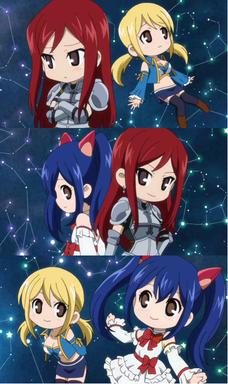 Lucy, Erza & Wendy!