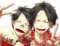 Luffy and Ace - one-piece photo