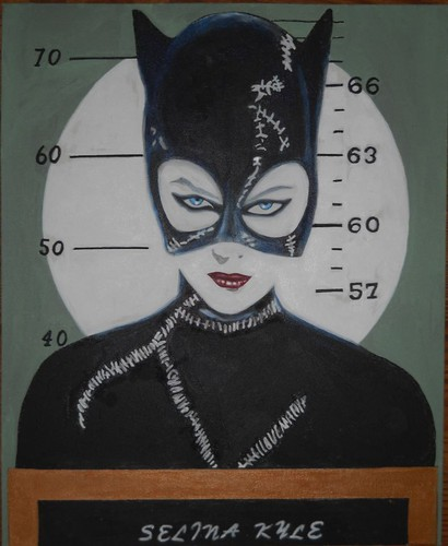 Batman Villains kertas dinding entitled MICHELLE PFEIFFER MUG SHOT