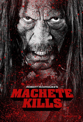 Machete kertas dinding possibly with Anime titled Machete Kills - Poster