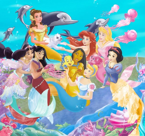 disney crossover achtergrond called Mermaids)))