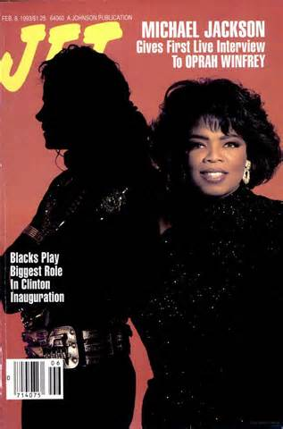 "Michael And Oprah On The Cover Of The 1993 Issue Of ""JET"" Magazine"