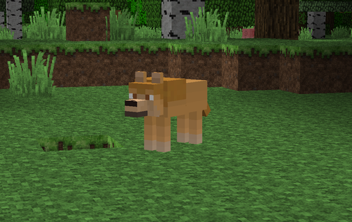 Alpha and Omega kertas dinding titled Minecraft Kate serigala, wolf Texture