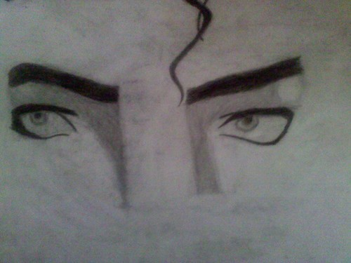 My drawing of Michael Jackson's eyes