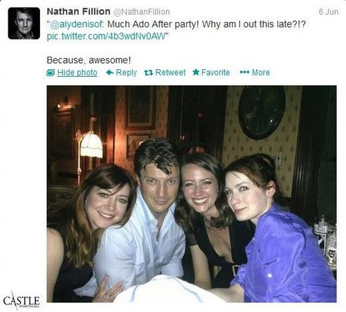 Nathan Fillion 바탕화면 entitled Nathan Fillion´s Twitter