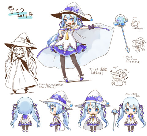 Official 2014 Snow Miku Дизайн