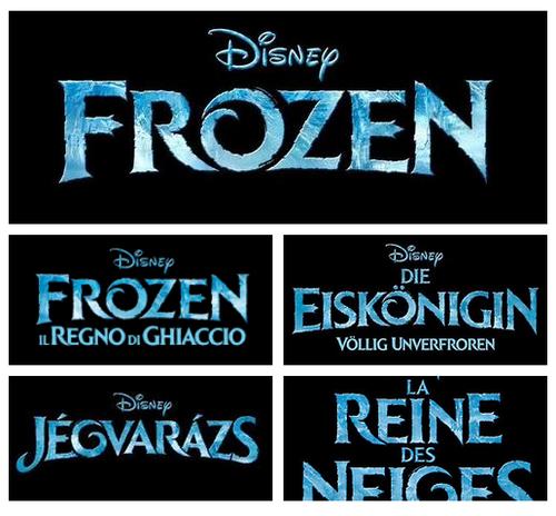 Official アナと雪の女王 Logos