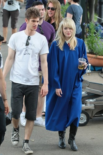 On Set Of 'The Amazing Spiderman 2'