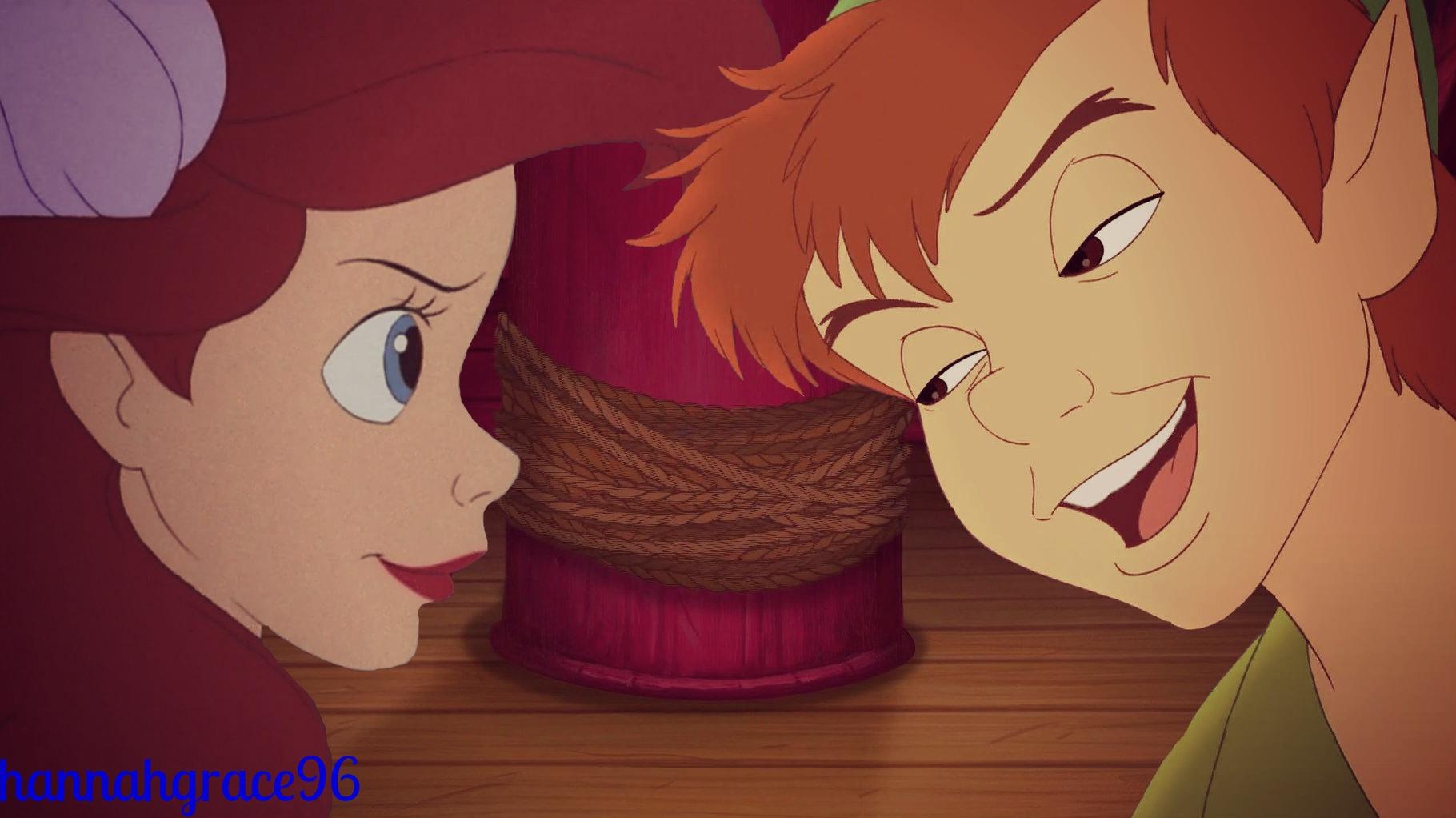 Peter Pan and Ariel