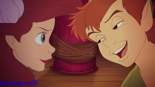Peter Pan and Ariel
