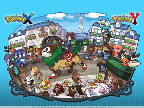 Pokémon wallpaper containing anime entitled Pokemon XY
