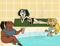 Poolside - total-drama-island fan art