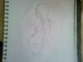 Pregnant girl - drawing photo