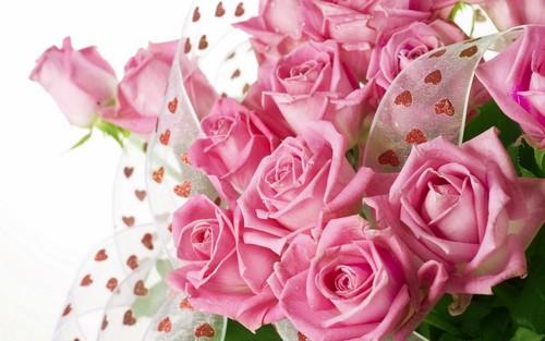 Красивое поздравление с розовой 98