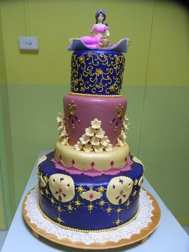 Princess hoa nhài themed cake