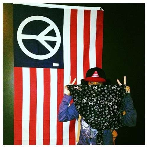Princeton says in Instagram &#34; #SpreadThePeace #Hippie #Peace #Art &#34; <3 =O XO :D :* ; { )