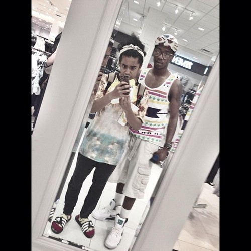 "Princeton says in Instagram ""This is how I look when I go to the mall with @ratedkg"" <3 :D ; { D"