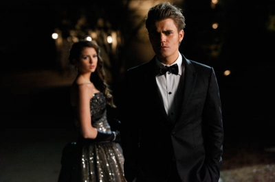 Damon&Elena and Ian&Nina wallpaper with a business suit, a dress suit, and a suit titled RANDOM