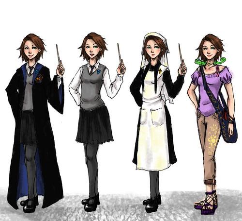 Rapunzel as a Hogwarts student