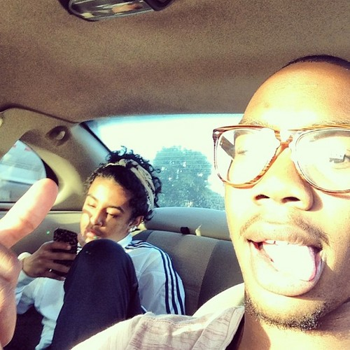 """Ratedkg says """"Suppose to be bonding but..... Ehhh it was traffic @princemisfit #whaturated"""" <3 =O :D"""