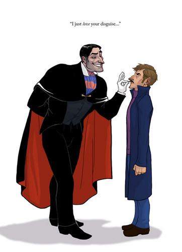 Ratigan and Basil as humains