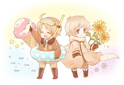 Hetalia wallpaper possibly containing anime titled Russia and America