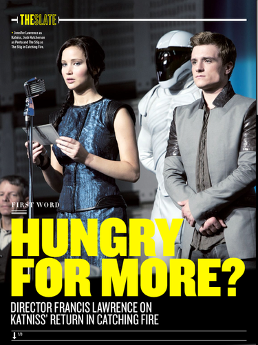 Scans of the 'Catching Fire' articulo In Empire Magazine's July 2013 Issue
