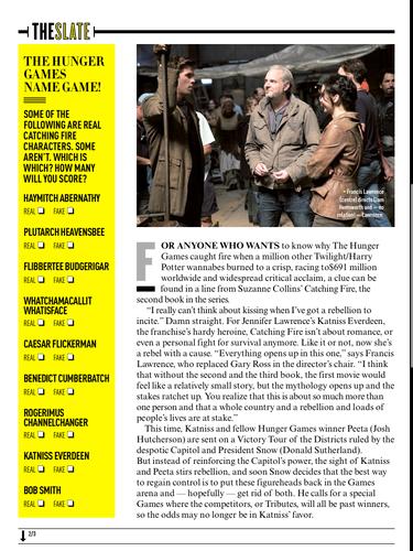 Scans of the 'Catching Fire' artigo In Empire Magazine's July 2013 Issue