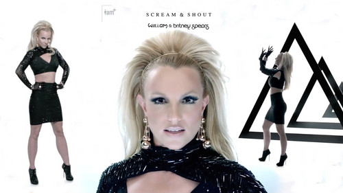 Britney Spears wolpeyper possibly containing a portrait titled Scream And Shout