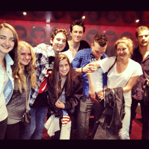 Shai at a Rolling Stones concerto with some of the 'Divergent' cast [03/06/13]