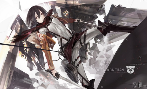 Shingeki no Kyojin (Attack on titan) wallpaper called Shingeki no Kyojin [Mikasa Ackerman]