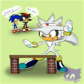 Silver's Gonna Break His Hand If He Does This - sonic-shadow-and-silver photo