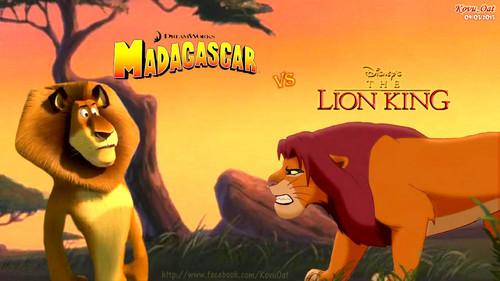 o rei leão wallpaper containing animê titled Simba vs Alex:Battle Lions