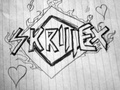 Skrillex logo on paper-by Janne.M - skrillex fan art