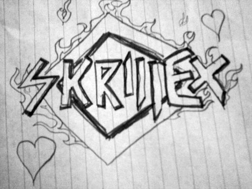Skrillex logo on paper-by Janne.M