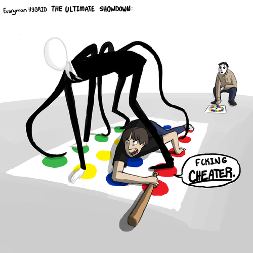 Slenderman wins at twister