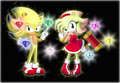 Super Sonic and Super Amy - sonic-the-hedgehog photo