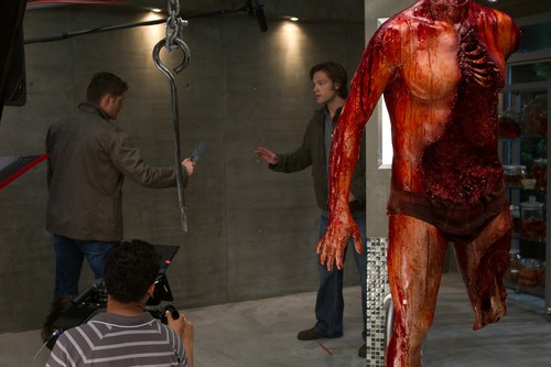 jared padalecki wallpaper possibly containing an abattoir entitled supernatural 6x06