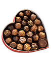 Sweet Brown Chocolate in heart box