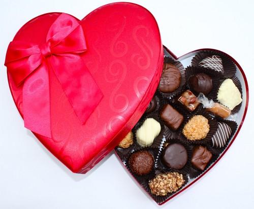 Sweet Brown चॉकलेट in दिल box