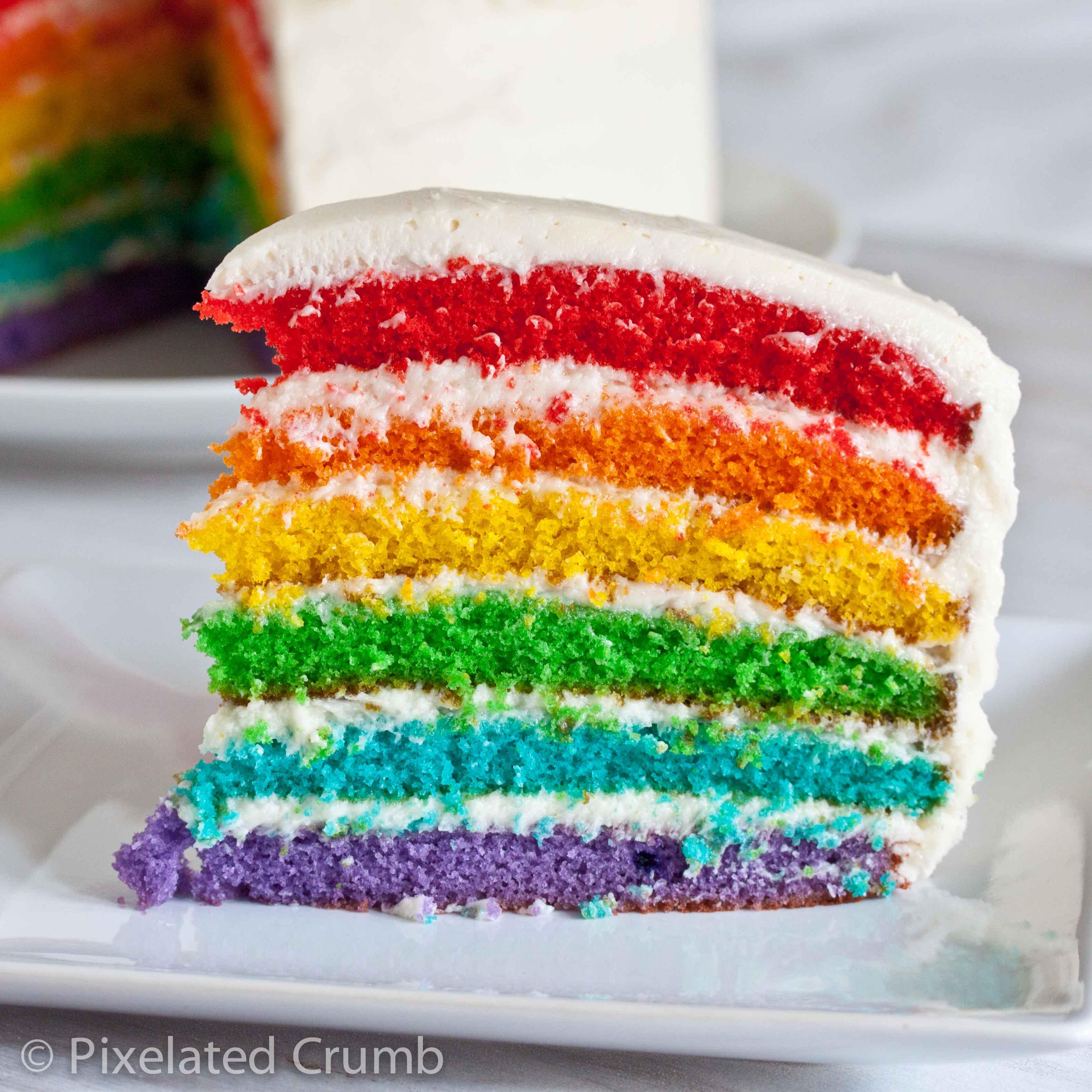 Sweet and Delish Rainbow Cake