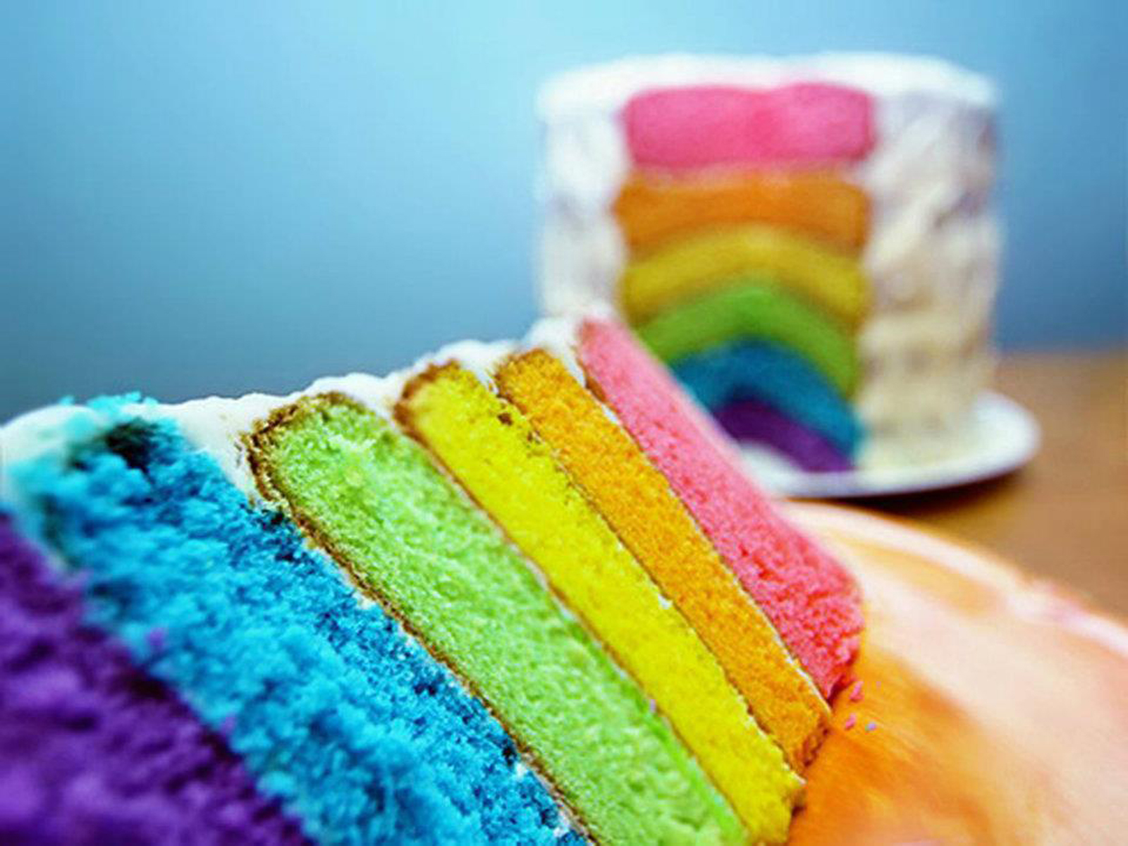 Pictures Of Cake To Colour In : Sweet and Delish Rainbow Cake - Colors Photo (34691726 ...