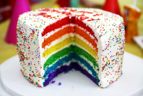 Sweet and Delish радуга Cake