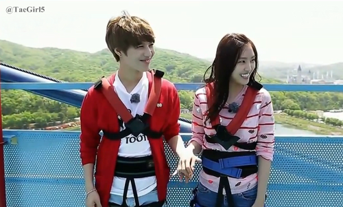 Shinee wallpaper possibly containing a workwear, an outerwear, and a leisure wear titled Taemin and Naeun WGM Ep 7