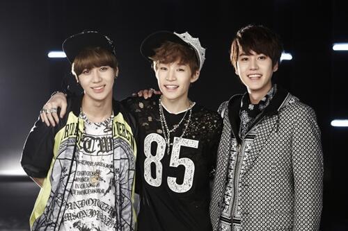 Taemin with Kyuhyun and Henry Trap Bangtan Boys