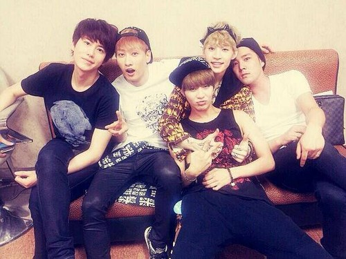 Taemin with Super Junior Eunhyuk, Henry, Kyuhyun