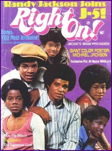 "The Jackson 5 On The Cover Of ""Right On!"" Magazine"