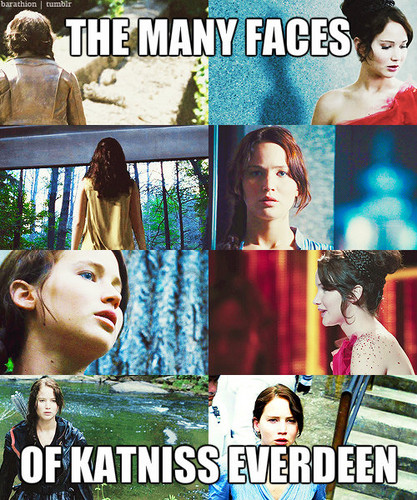 Katniss Everdeen wallpaper with anime called The Many Faces of Katniss Everdeen