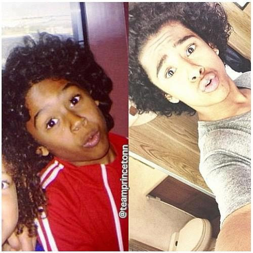 Princeton (Mindless Behavior) wolpeyper with a portrait called Then & Now :)